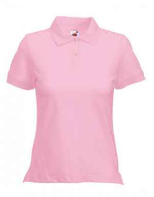 Fruit of the Loom Lady Fit Poloshirt Light Pink