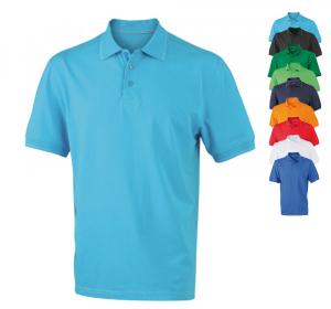 Herren Elastic Polo T-Shirt von James+Nicholson