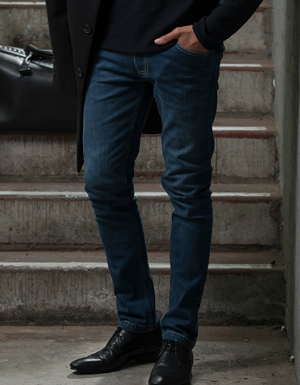 Herren Slim Jeans Max mit blauen Waschungen von So Denim