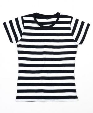 Mantis Damen T-Shirt Stripy schwarz weiss gestreift