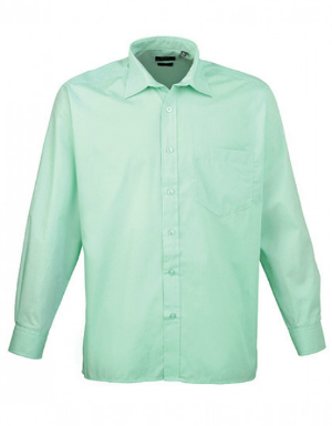 Premier Workwear Poplin Long Sleeve Shirt Herrenhemd Langarm