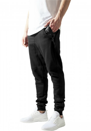 Side Zip Leather Pocket Sweatpant fuer Herren