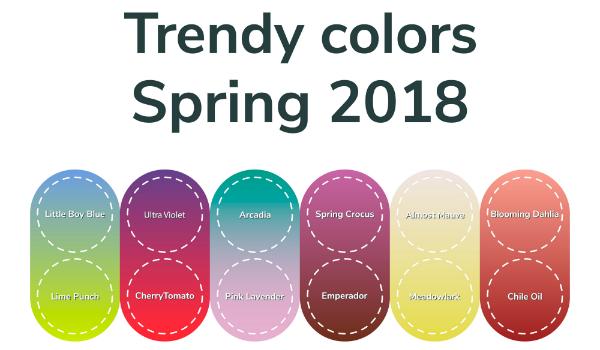Trendige Fruehlingsfarben 2018