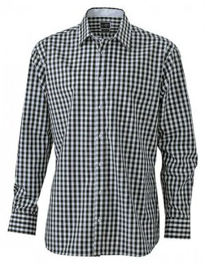 James+Nicholson Mens Checked Shirt