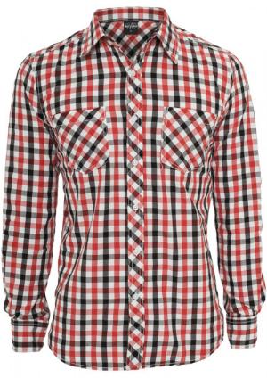 Urban Classics Tricolor Big Checked Shirt