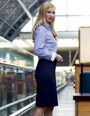 BR631 Brook Taverner Sophisticated Collection Numana Straight Skirt