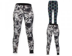 SF Women Ladies Reversible Work-Out Leggings