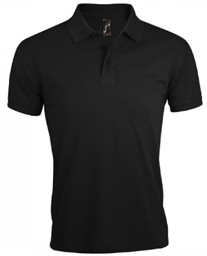 Black Mens Polo Shirt Prime von SOLS