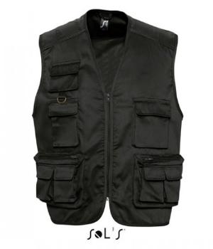 Black Reporter Jacket Wild von SOLS