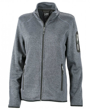 James+Nicholson Ladies Knitted Fleece Jacket
