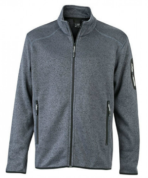 James+Nicholson Mens Knitted Fleece Jacket