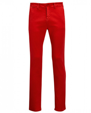 Poppy Red Mens Pants Jules von SOLS
