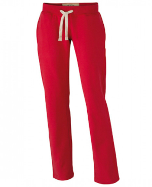 Red Ladies Vintage Pants von James+Nicholson