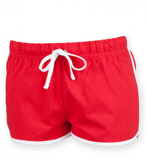 Red White Ladies Retro Shorts von SF Women