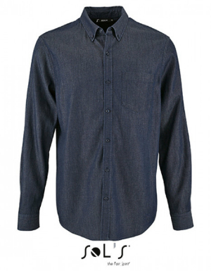 SOLS Mens Denim Shirt Barry