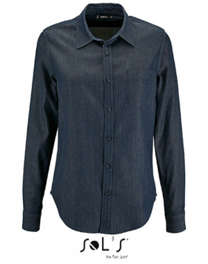 SOLS Womens Denim Shirt Barry