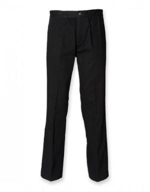 W608 Henbury Mens Chino Trousers mit Teflon