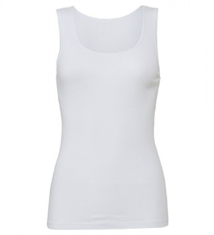 White 2x1 Rib Tank Top von Bella