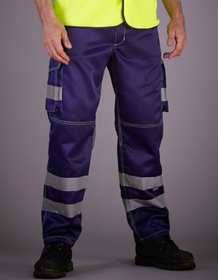 YOKO High Visibility Cargo Trousers with Knee Pad Pockets