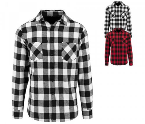 Flanell-Holzfaellerhemd fuer Damen 100 Prozent Baumwolle modisches Karomuster zwei Brusttaschen
