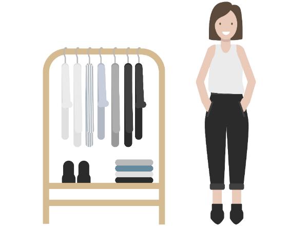 Minimalismus bei der Kleidung befreit