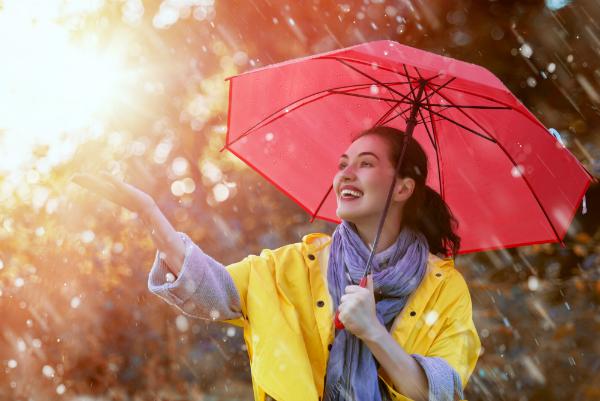 Regenschutz fuer Damen in modischen Farben