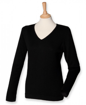 henbury-ladies-lightweight-v-neck-jumper
