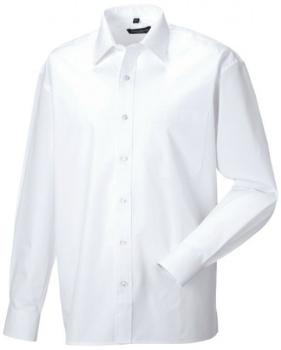 weisses-hemd-russell-collection-langarm-popeline-hemd