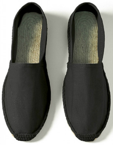 B and C Espadrille Damen schwarz