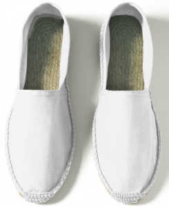 B and C Espadrille Damen weiss