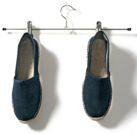B and C Espadrille Herren dunkelblau denim