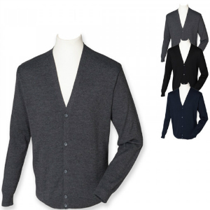 Henbury Men`s Lightweight V-Neck Cardigan