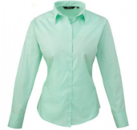 Premier Workwear Ladies Poplin Long Sleeve Shirt (Damenbluse/Langarm)