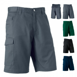 Russell Workwear-Shorts aus Polyester-/Baumwoll-Twill