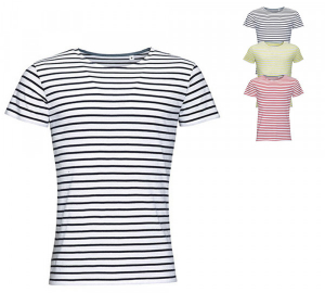 SOLS Mens Round Neck Striped T-Shirt Miles