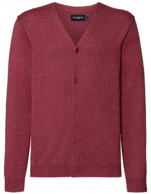 russell-collection-mens-v-neck-knitted-pullover-cranberry-marl