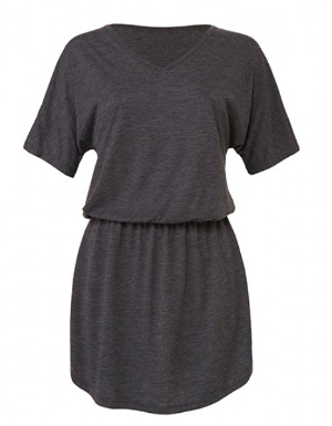 bella-womens-flowy-v-neck-dress-grau