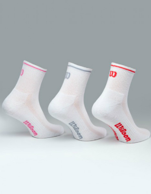 wilson-ladies-basic-quarter-socks-3-er-pack