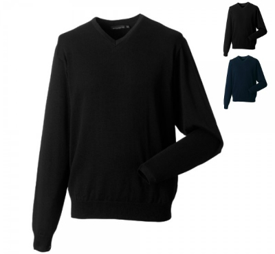 russell-collection-herren-strick-pullover-mit-v-ausschnitt
