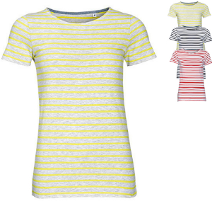 SOL´S Women`s Round Neck Striped T-Shirt Miles