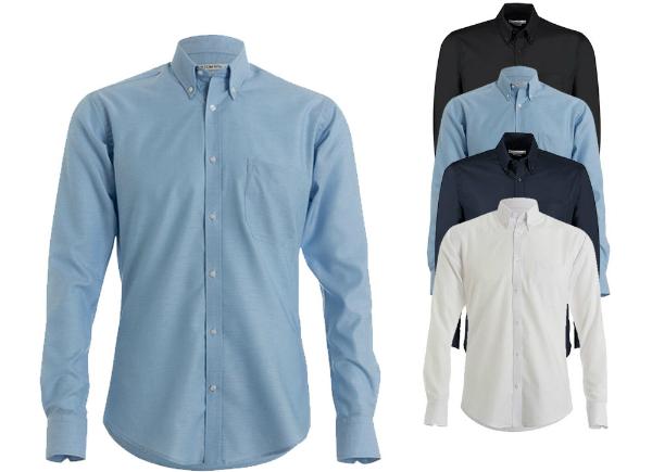 Kustom Kit Slim Fit Workwear Oxford Shirt Long Sleeve