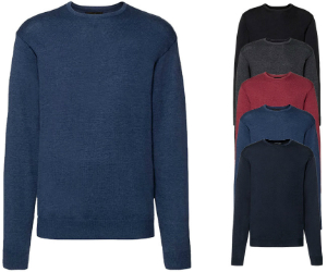 Russell Collection Mens Crew Neck Knitted Pullover