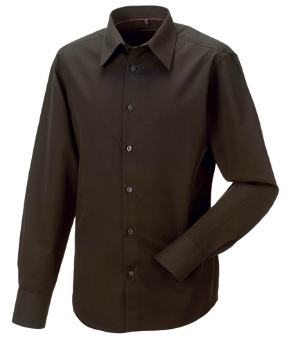 Koerperbetontes langaermeliges Hemd aus Tencel