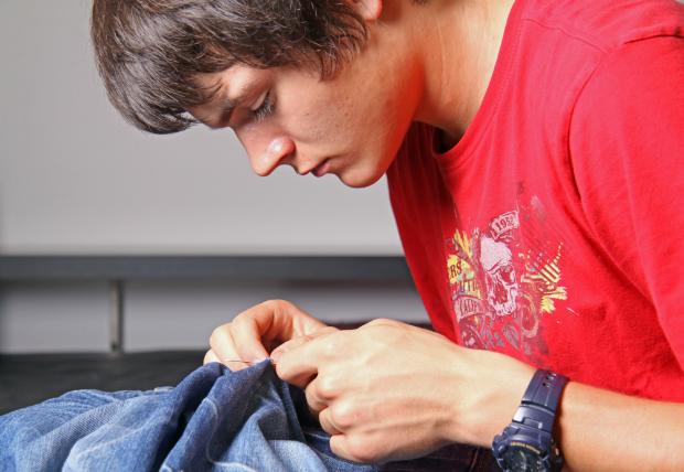 Löcher in Jeans können vermieden werden