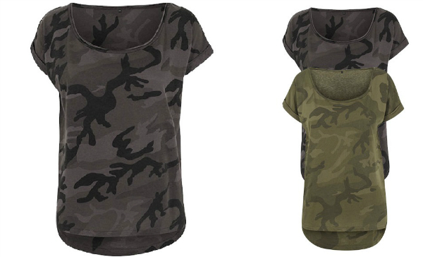 Build Your Brand Ladies Camo Tee