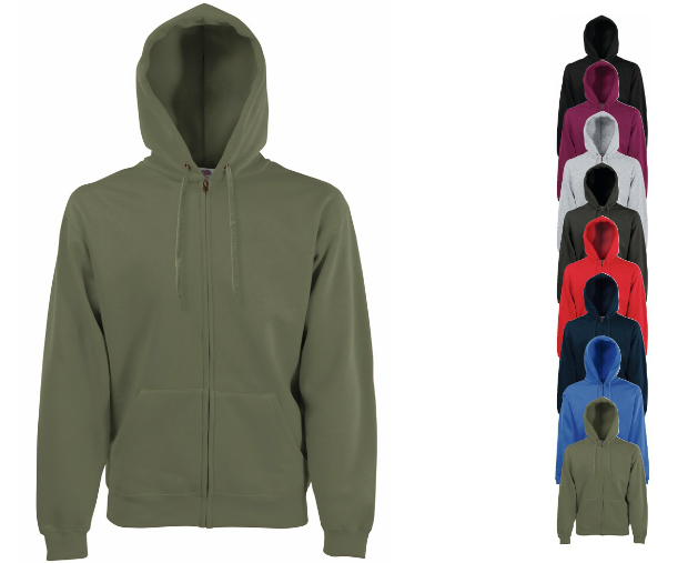 Fruit of the Loom Zip Through Hooded Sweat-Jacke