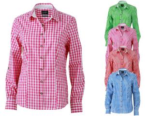 James+Nicholson Ladies' Traditional Shirt