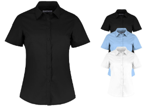 Kustom Kit Women`s Tailored Fit Poplin Shirt Short Sleeve