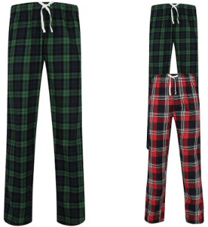 SF Men Mens Tartan Lounge Pants