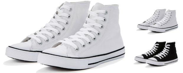High Top Printable Canvas Shoe